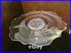 Heisey Plantation Pedestal Cake Plate / Stand Pineapple Design