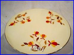 Hall Autumn Leaf Pedestal Cake Plate