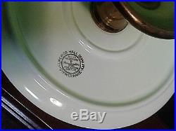 Hall's Superior Vintage Jewel Tea Autumn Leaf Cake Plate On Pedestal Rare