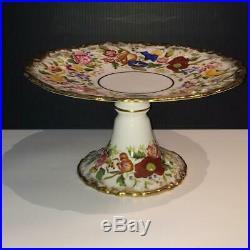 Hammersley Queen Ann Chintz Morning Glory Pedestal Cake Plate Ch5082