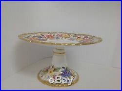 Hammersley Queen Anne Gold Pedestal Cake Plate
