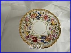 Hammersley Queen Anne Gold Pedestal Cake Plate