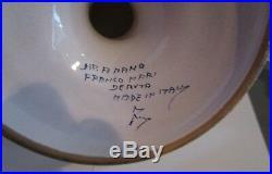 Handpainted FRANCO MARI Deruta Pedestal Cake Plate Italy