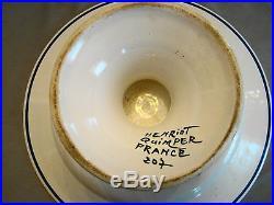 Henriot Quimper France Breton Woman Comport Tazza Pedestal Cake Plate 20th c