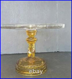 Hobbs Brockunier Tree of Life w Hand Cake Stand Antique EAPG Pedestal Plate 10