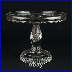 Hobbs Brockunier Tree of Life w Hand Cake Stand, Antique EAPG Pedestal Plate, 9