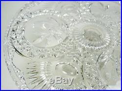 Hofbauer Byrdes Lead Crystal Pedestal Cake Plate Stand