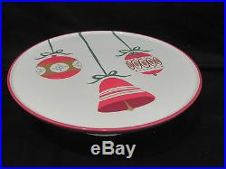 Htf Retired Martha Stewart Christmas Ornament Pedestal Cake Plate Beautiful Item