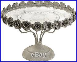 Imax Rose Pedestal Cake Plate