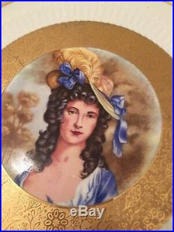 JKW Fine Porcelain Western Germany Pedestal Cake Stand Plate HAND PAINTED