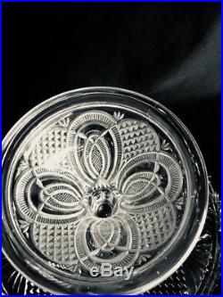JUBILEE HICKMAN EAPG Clear Glass MCKEE BROS. Cake Stand Plate Pedestal 1888 MINT