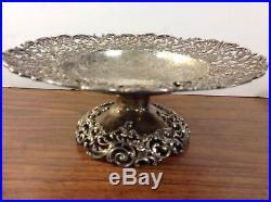 J. E. Caldwell. Huge Sterling Silver 11.25 Pedestal Pierced cake plate