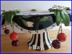J MCCALL Cherry Blossom Pedestal CAKE Stand Plate ICING ON THE CAKE