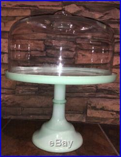Jadeite/Jadite Green 10 Pedestal Cake Stand Plate Mosser