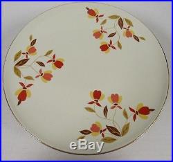 Jewel Tea Autumn Leaf Footed Pedestal Cake Plate By Hall China C609