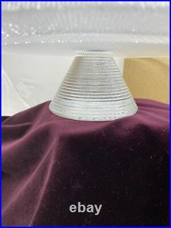 Kosta Boda Limelight Cake Stand Göran Wärff Heavy Glass Pedestal New 12.5 NIB