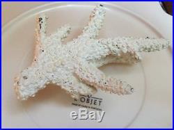 LObjet Pedestal Cake Stand Serving Plate Platter Sea life Seahorse Coral Gold