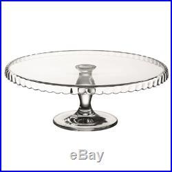 Large GLASS Cake Stand Pedestal Vintage Cupcake Pastry Food Display Plate #5117R