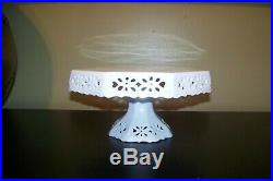 Large Kaldun & Bogle Stackable White OCTOGON Pedestal Cake Plate Stand