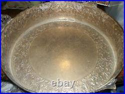 Large Silver Plate Cake Pedestal Stand, For Cakes or Fountains, 22 in. Across