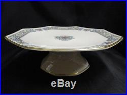 Lenox Autumn Gold Backstamp Pedestal Cake Plate 10 1/2