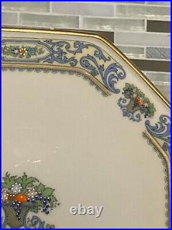 Lenox Autumn Pedestal OCTAGONAL Cake Plate Stand