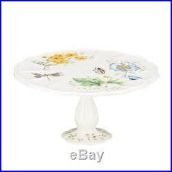 Lenox Butterfly Meadow Pedestal Cake Plate Medium 10