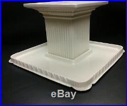Lenox Forum Collection Square Cake Plate Footed Pedestal Elegant