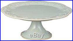 Lenox French Perle Home Kitchen Tabletop Serving Medium Pedestal Cake Plate