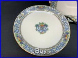 Lenox THE AUTUMN Black Backstamp Handled Cake Plate, Creamer, Pedestal Plate