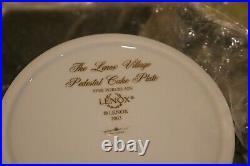 Lenox Village Pedestal Cake Plate/Server NIB with COA