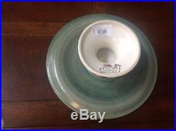 Lenox Winter Greetings Earthenware Pedestal Cake Plate RARE