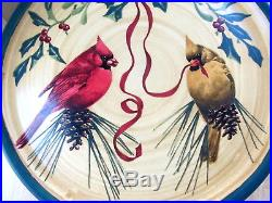 Lenox Winter Greetings Everyday Pedestal Cake Platter Plate