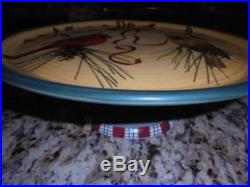 Lenox Winter Greetings Everyday pedestal cake plate excellent condtn low shipng