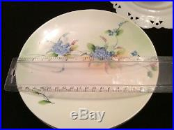 Lot Germany Porcelain Hand Painted Bavaria Plates, Cake Plates, Pedestal Plate