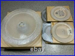 Lot Kosta Boda Limelight Pedestal Cake Stand 12.5, (4)Plate Göran Wärff Glass