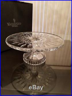 MSRP $235 Waterford Crystal 11 Lismore Cake Plate Footed Pedestal Stand NIB