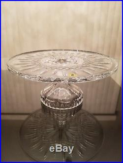 MSRP $235 -Waterford Crystal 11 Lismore Cake Plate Footed Pedestal Stand NIB