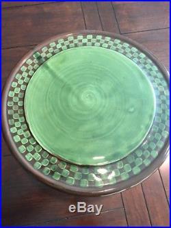 Mackenzie Childs Wittika Pickles Pedestal Cake Plate Stand Retired