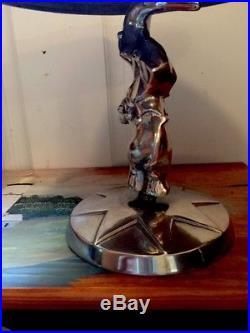 Mariposa Five Elm Aluminum Circus Elephant Pedestal Cake Stand Server Plate