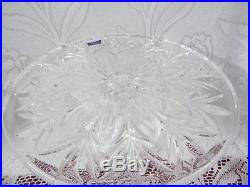 Marquis Canterbury Waterford Crystal Pedestal Cake Plate Dessert Stand