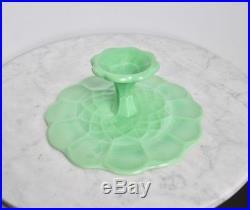 Martha Stewart by Mail Jadite Jadeite Glass Cake Pedestal Plate 12 Green