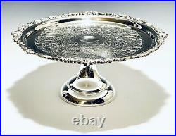 Marvelous Vintage Victorian Style Sheridan Cake Pedestal Silver Plate