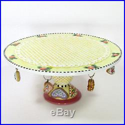 Mary Engelbreit HAVE A HEART 11 Pedestal Cake Plate Stand 2001 Valentine's Day