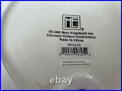 Mary Engelbreit Pedestal Cake Plate Cherries Green & Yellow 1998 Rare Signed
