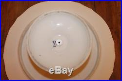 Meissen Footed Pedestal Scalloped Cake Plate Stand Blue Crossed Swords Tulip 13