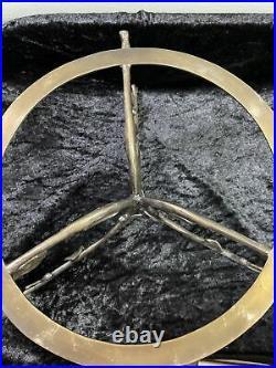 Michael Aram VINE Pedestal Cake Stand Marble & Nickel Plated 11 wide