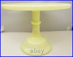 Mosser Pedestal Cake Plate Yellow Buttercream Pastry Cupcake Stand Made Ohio