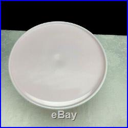 Mosser Pink Milk Glass Cake Stand Plate Pastry Serving Tray 10 Pedestal Vintage