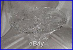 Moving SALE! Hofbauer Byrdes Cut Glass Pedestal Cake Plate EUC